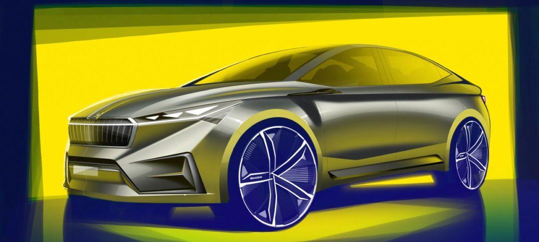 Skoda hace públicos los primeros bocetos del Vision iV Concept